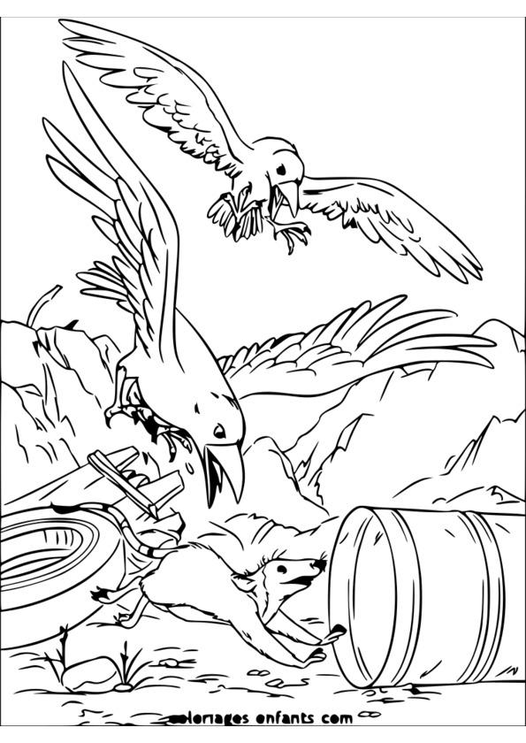 Coloriage imprimer animaux de la savane - Dessin de savane ...