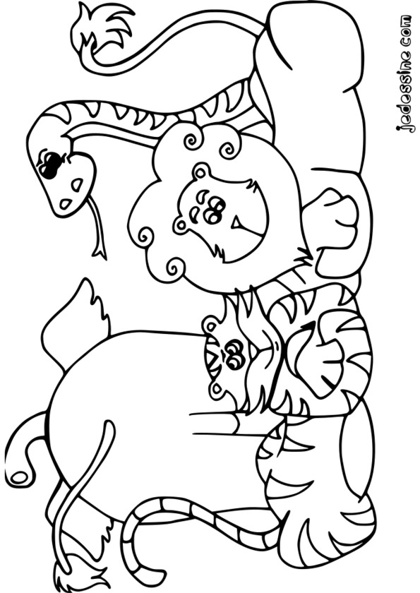Coloriage animaux afrique maternelle - Animaux afrique maternelle ...