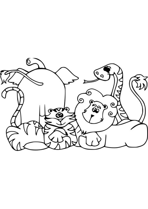 coloriage à dessiner animaux printemps