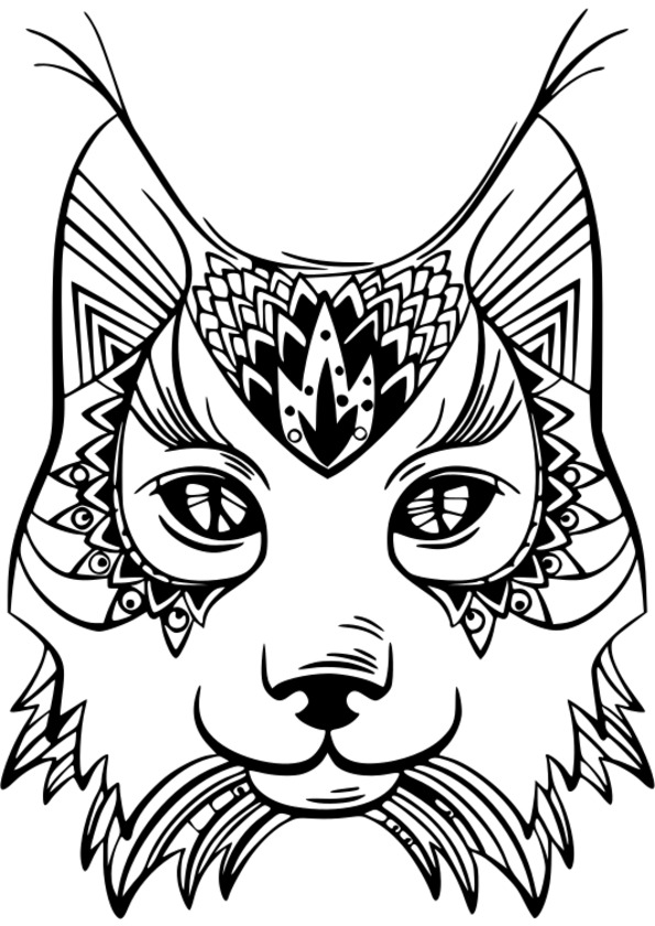 163 dessins de coloriage animaux imprimer - Chat a colorier adulte ...