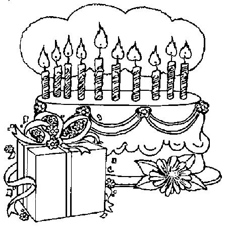 92 dessins de coloriage anniversaire 10 ans imprimer - Dessin bougies anniversaire ...