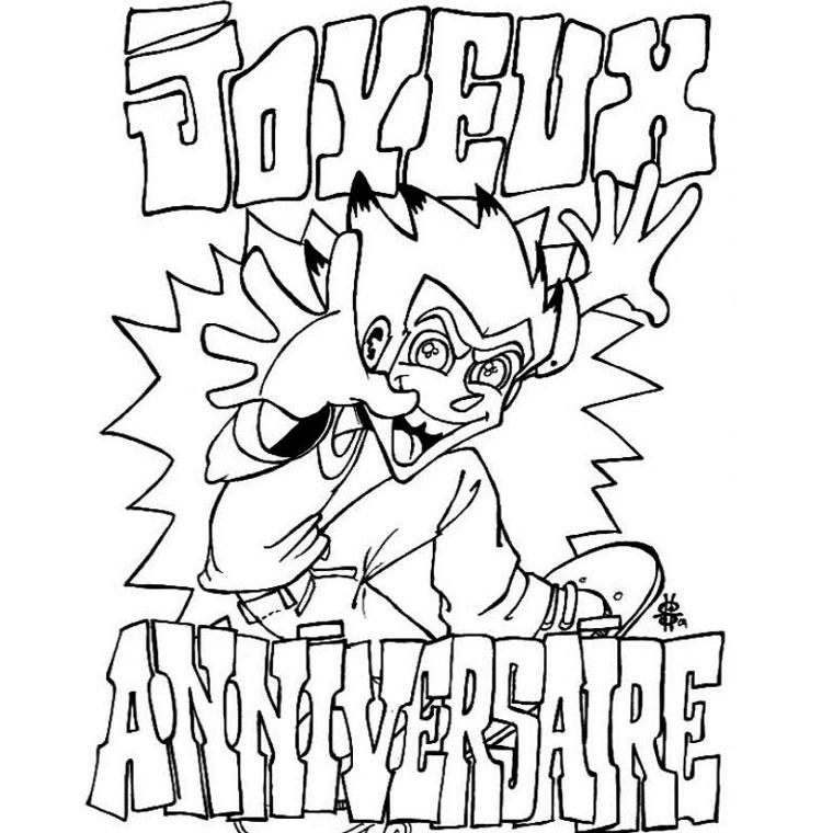 98 dessins de coloriage anniversaire 5 ans imprimer - Dessin cadeau anniversaire ...