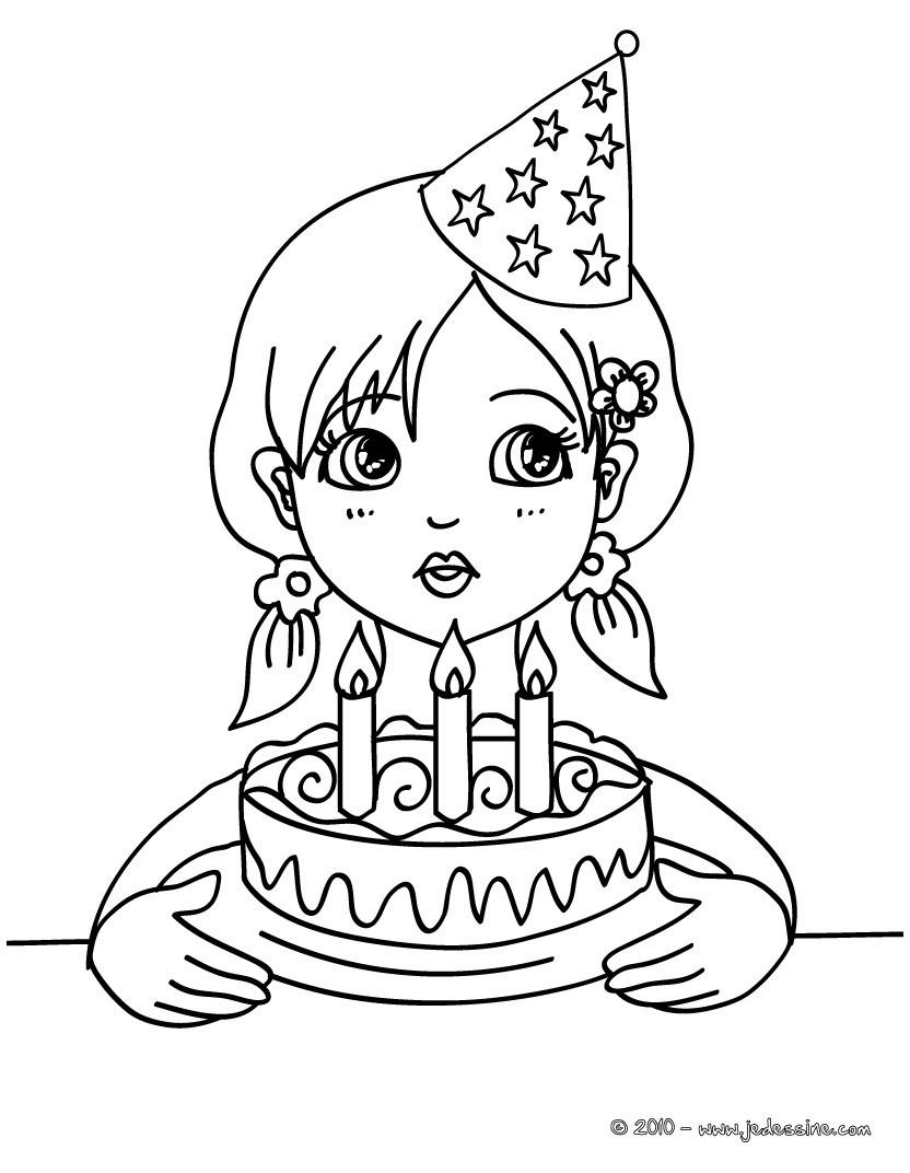 coloriage anniversaire 5 ans