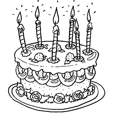 97 dessins de coloriage anniversaire 6 ans imprimer - Dessin gateau anniversaire 50 ans ...
