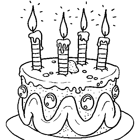 Très Dessin gateau anniversaire 2 bougies – Secrets culinaires gâteaux  VY62