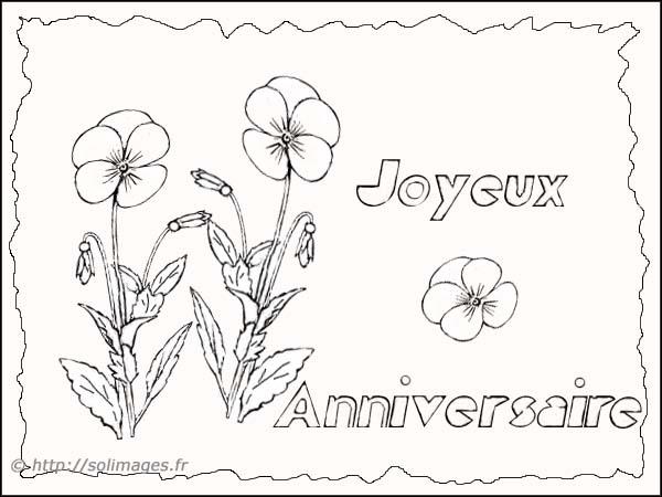 Carte joyeux anniversaire colorier wizzyloremaria official - Dessin pour anniversaire 60 ans ...