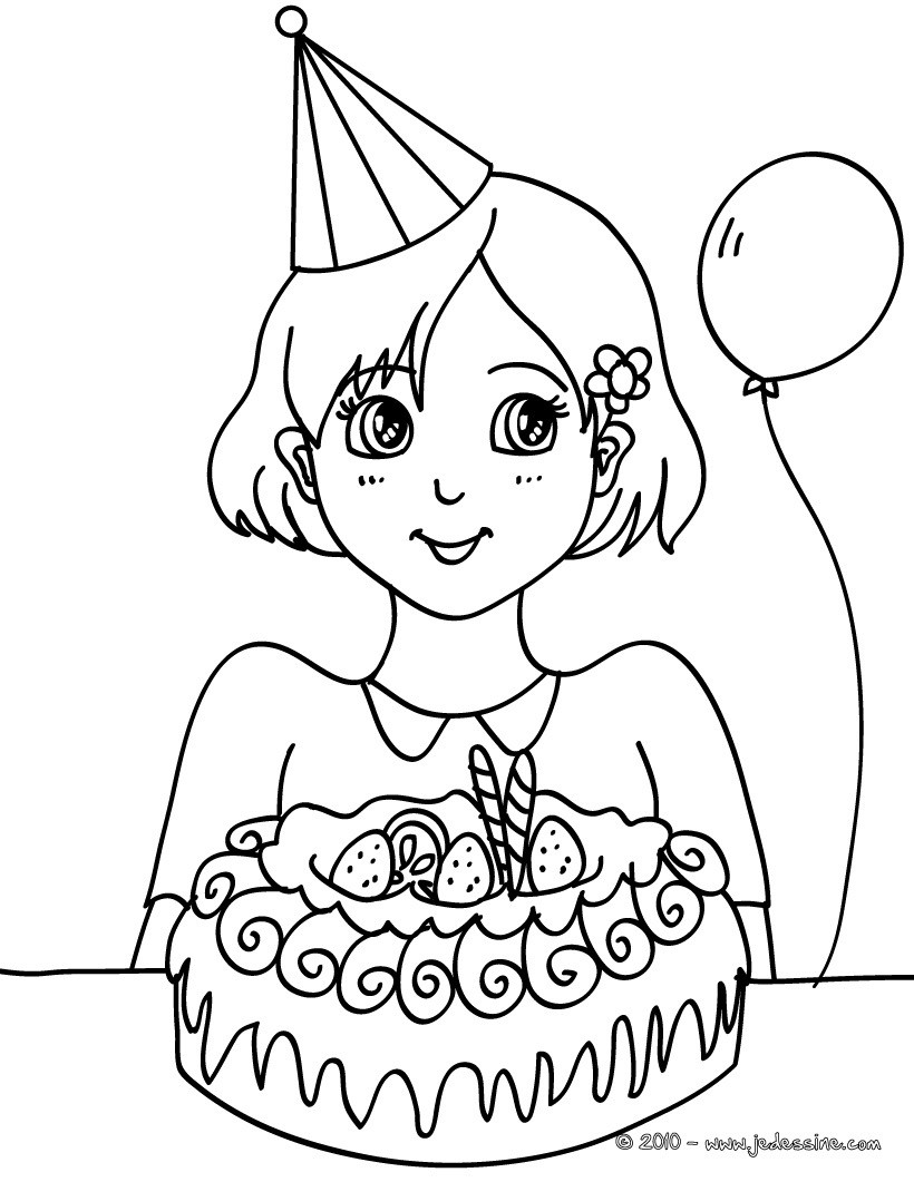 coloriage anniversaire maman
