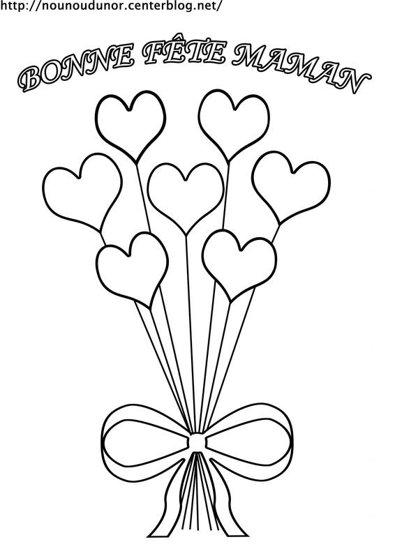93 dessins de coloriage anniversaire maman imprimer - Dessin bonne fete maman ...