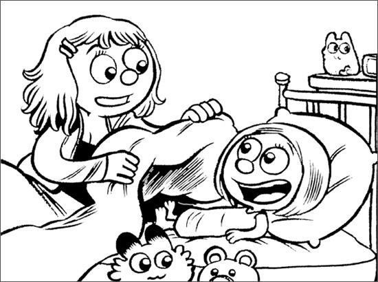 voir le dessin - Coloriage Maman