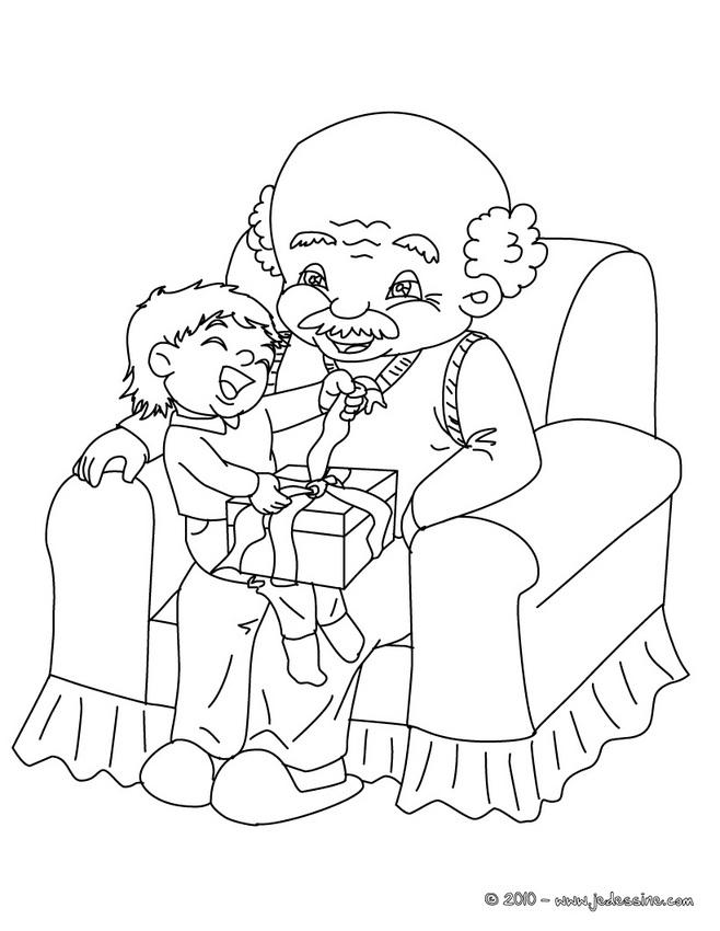 90 dessins de coloriage anniversaire papa imprimer - Dessin grand pere ...