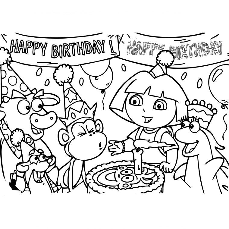 coloriage à dessiner joyeux anniversaire 2 ans
