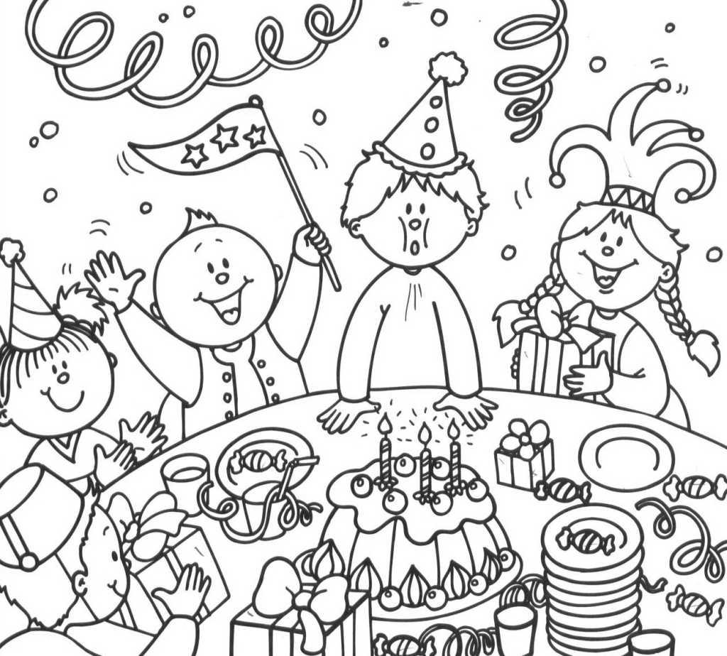 Dessin colorier imprimer anniversaire 4 ans - Dessin gateau anniversaire 4 ans ...