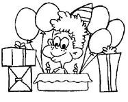 dessin à colorier anniversaire 20 ans
