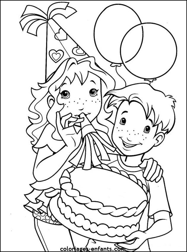 coloriage à dessiner anniversaire chevalier