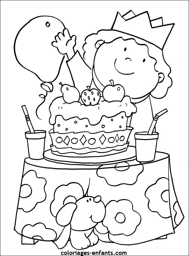 Coloriage anniversaire papa 41 ans - Dessin joyeux anniversaire ...