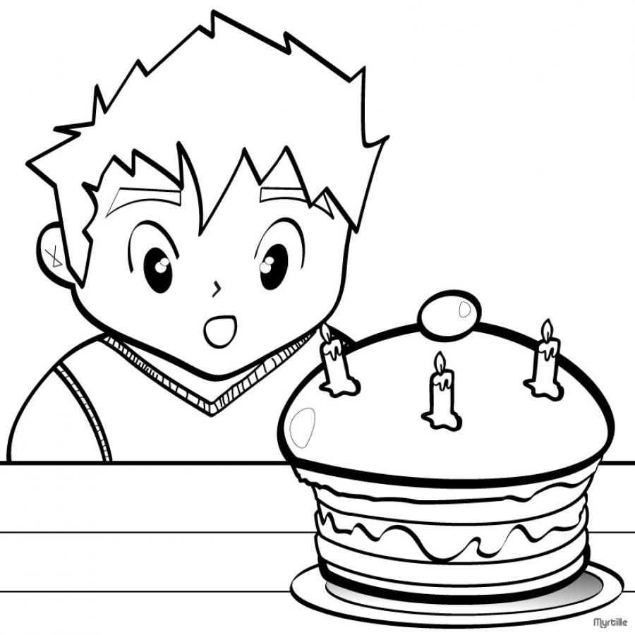 Coloriage Gateau Adulte 62 Bougie