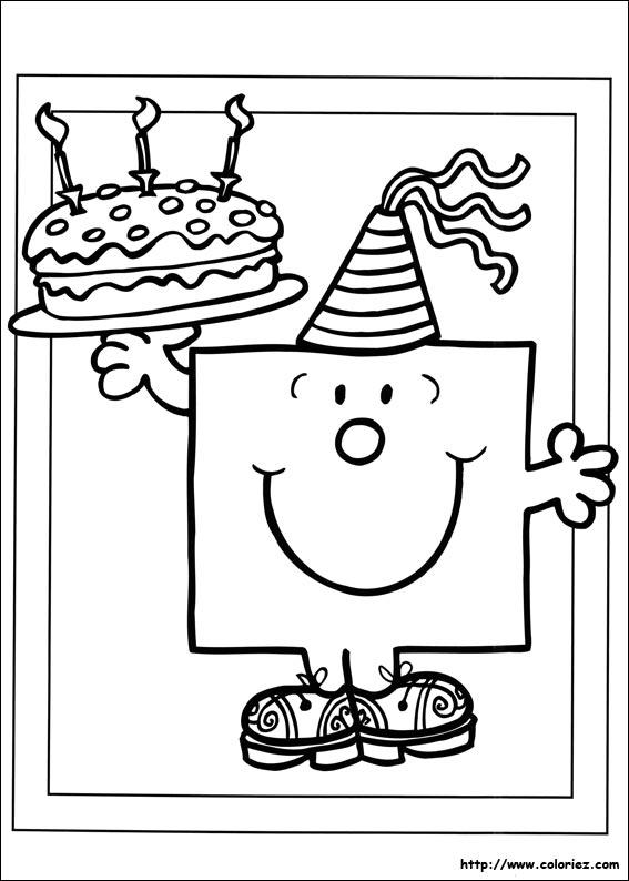 Coloriage anniversaire imprimer - Dessin pour anniversaire ...