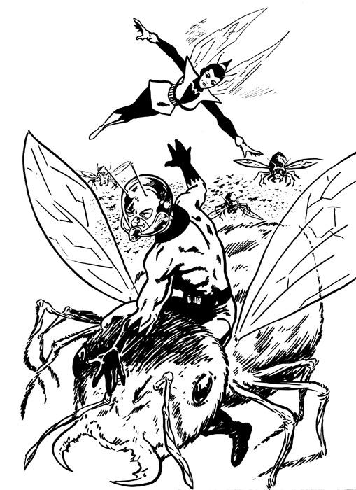 coloriage à dessiner ant-man