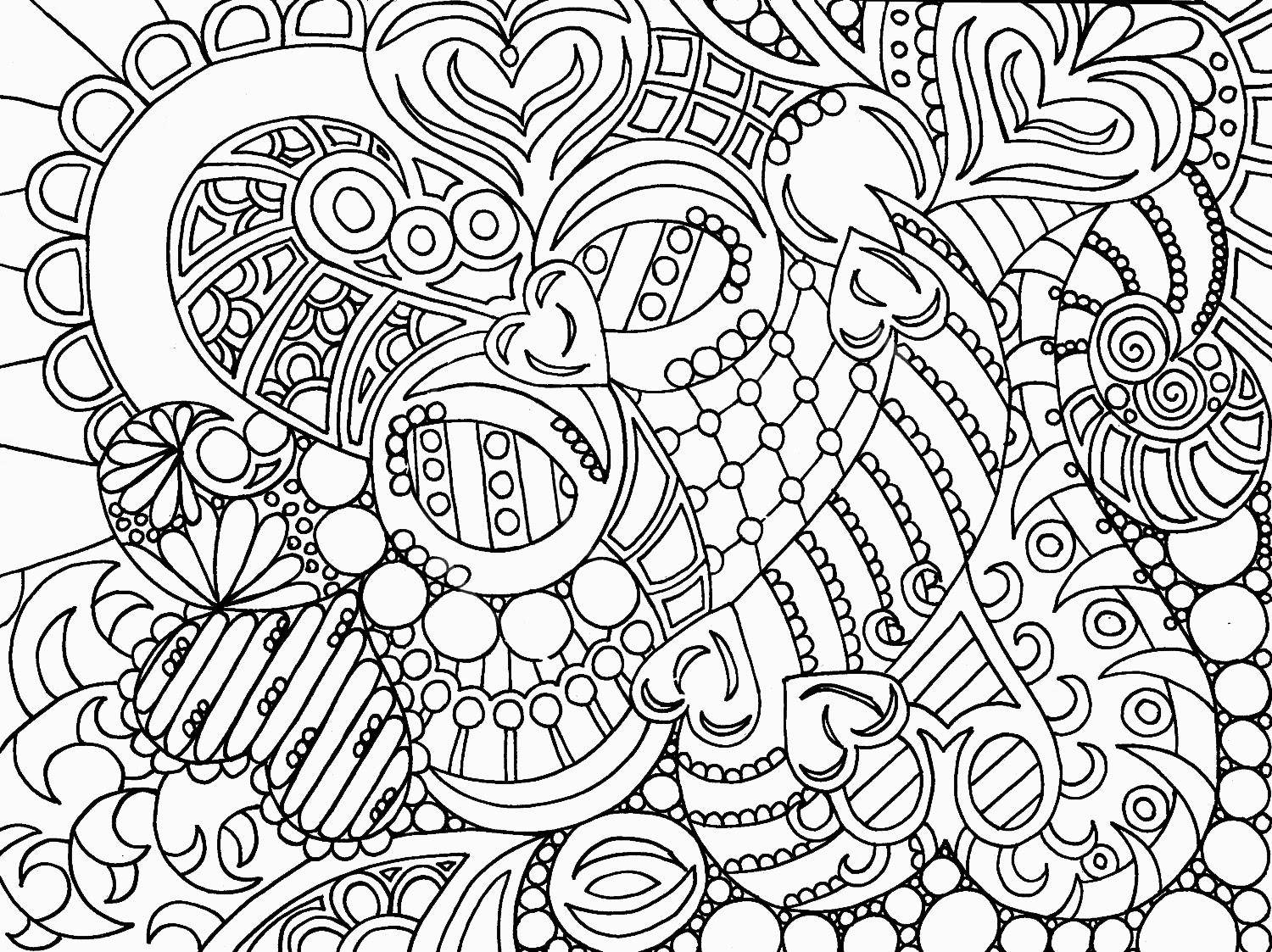20 dessins de coloriage anti stress en ligne imprimer - Dessins anti stress ...