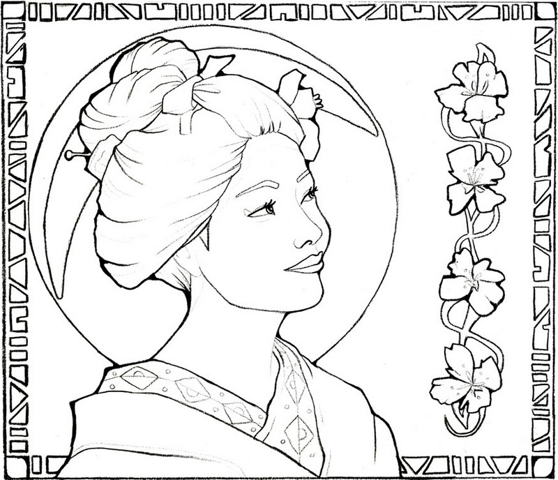 japanese garden coloring pages - photo #10
