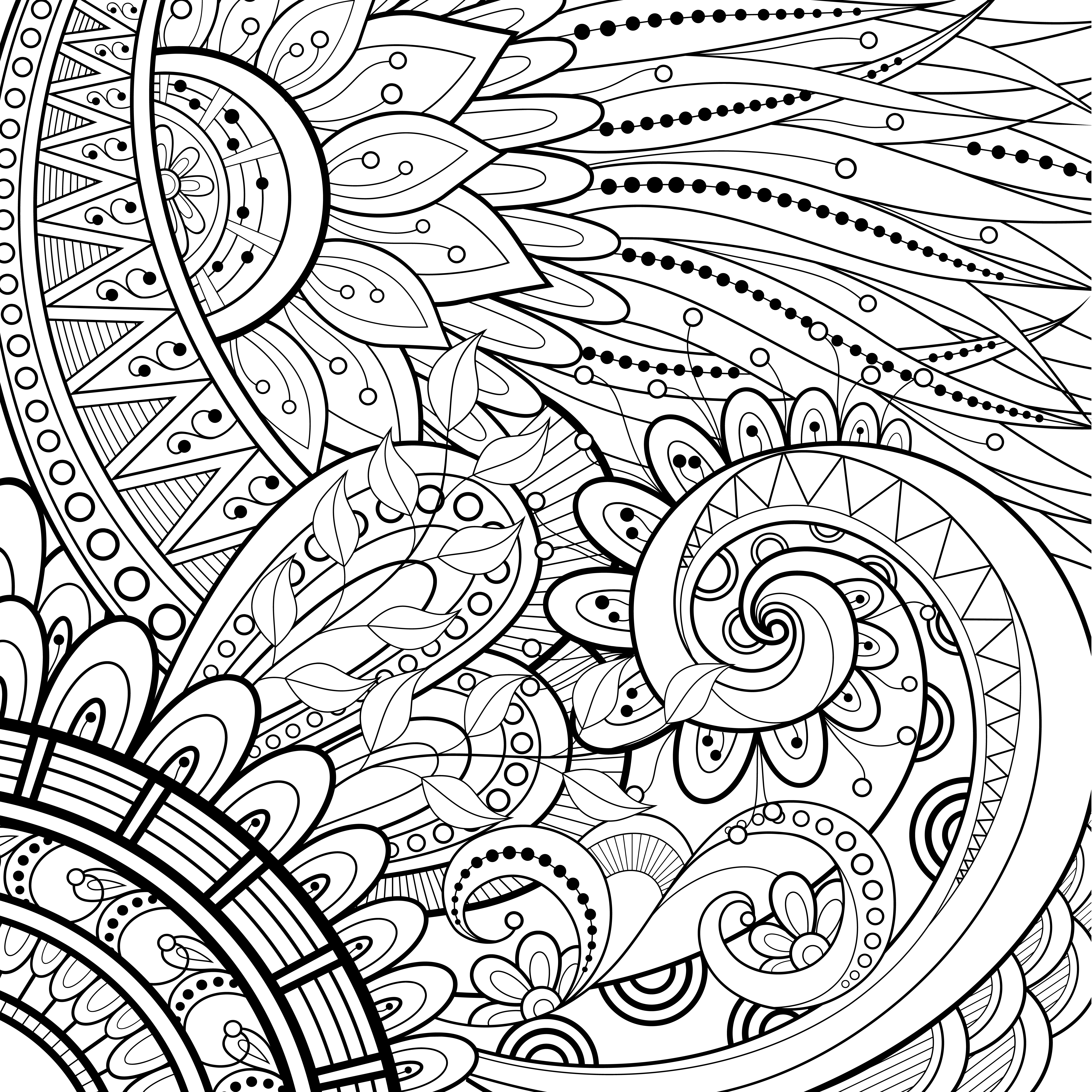 coloriage anti stress tatouage