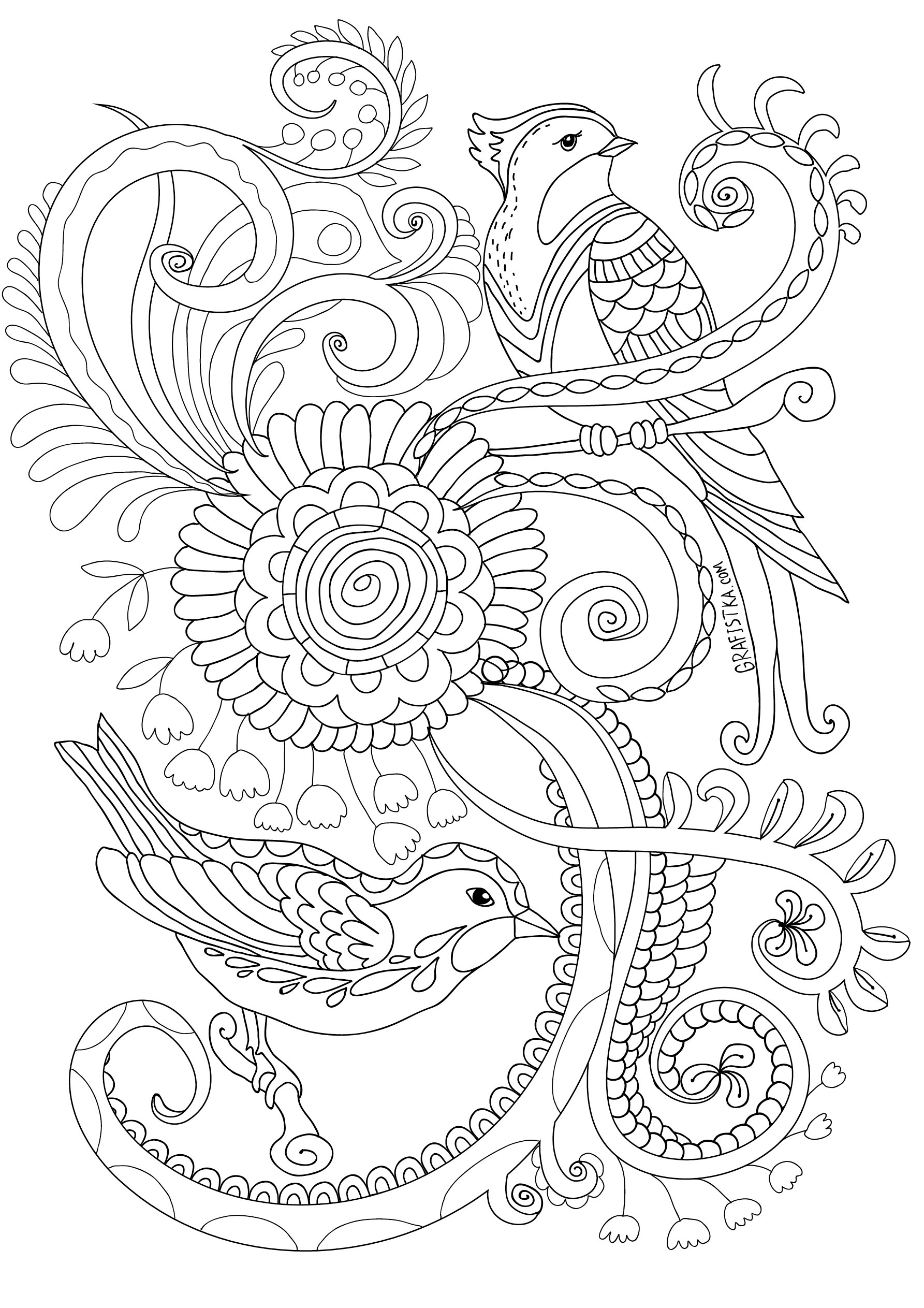 Le dessin anti stress - Coloriage anti stress a imprimer ...
