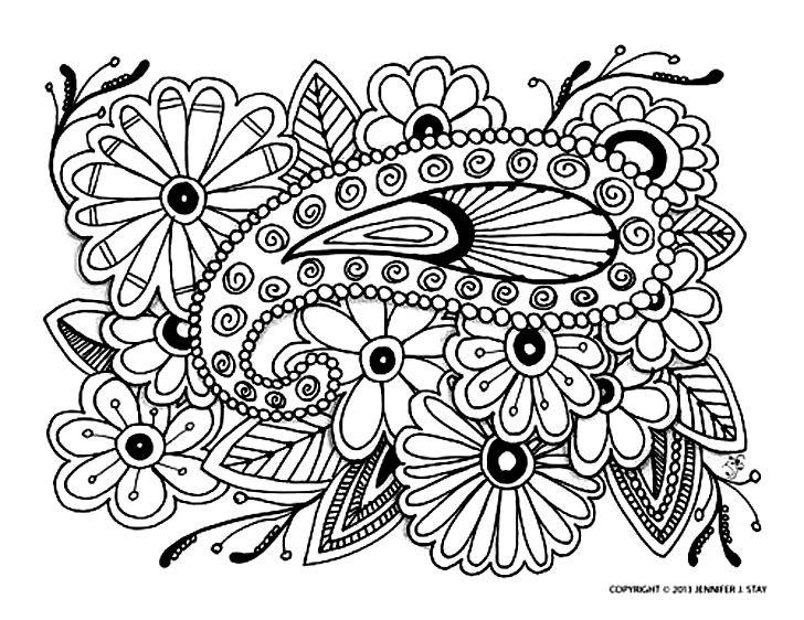 dessin à colorier anti stress à imprimer