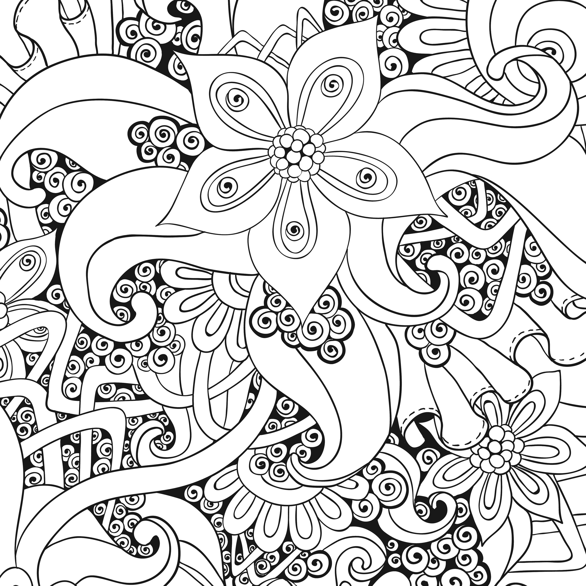coloriage à dessiner anti stress nature