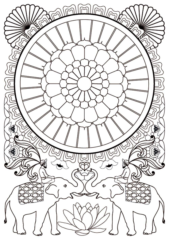 coloriage à dessiner anti stress matériel