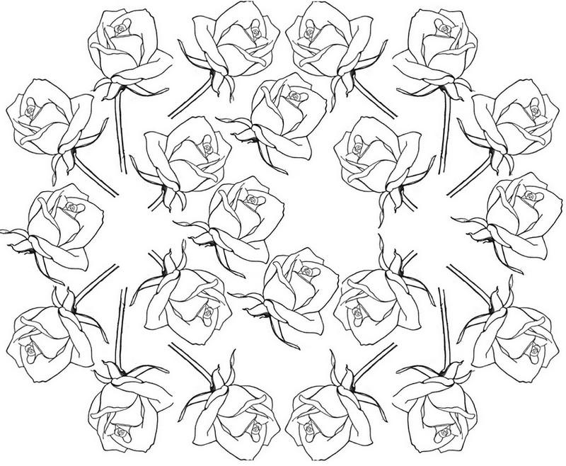dessin à colorier anti stress tete de mort