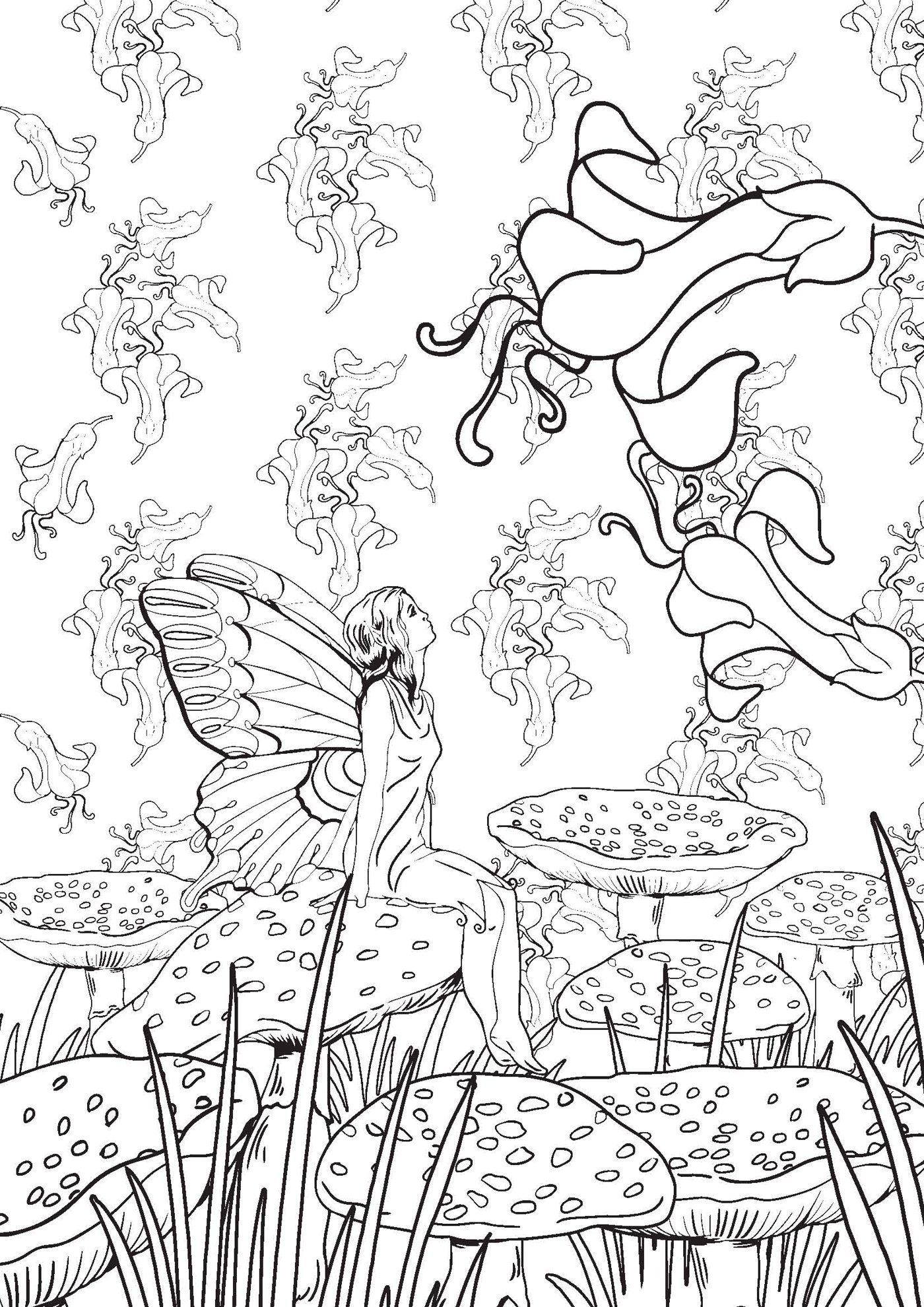 Dessin anti stress jardin secret - Coloriage art ...