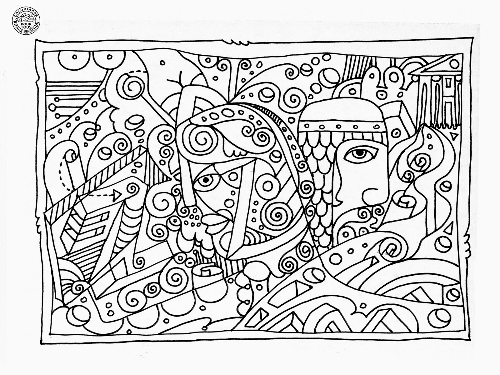 Coloriage Anti Stress Facile ã Imprimer