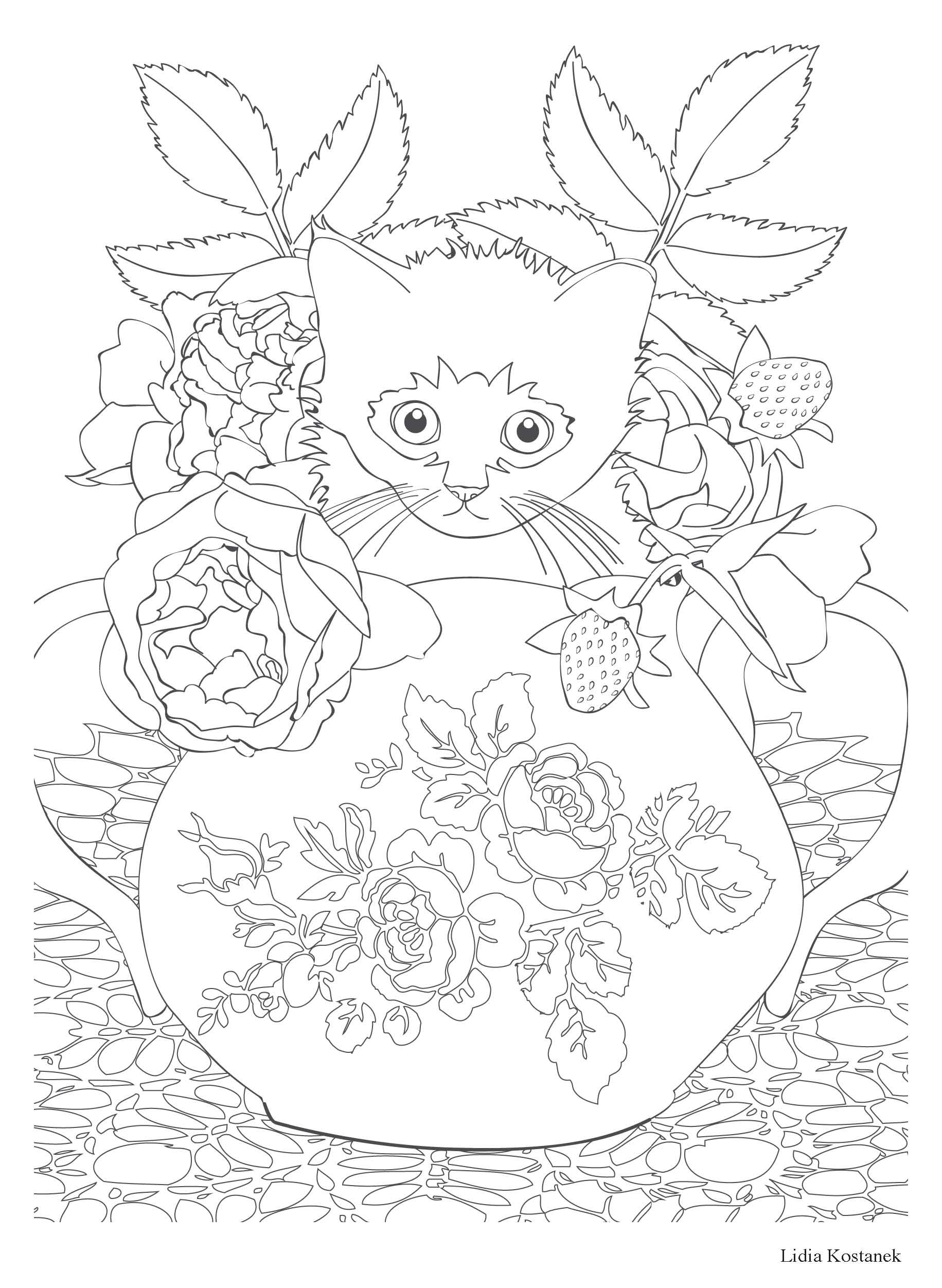 Coloriage anti stress paysage - Coloriage therapie ...