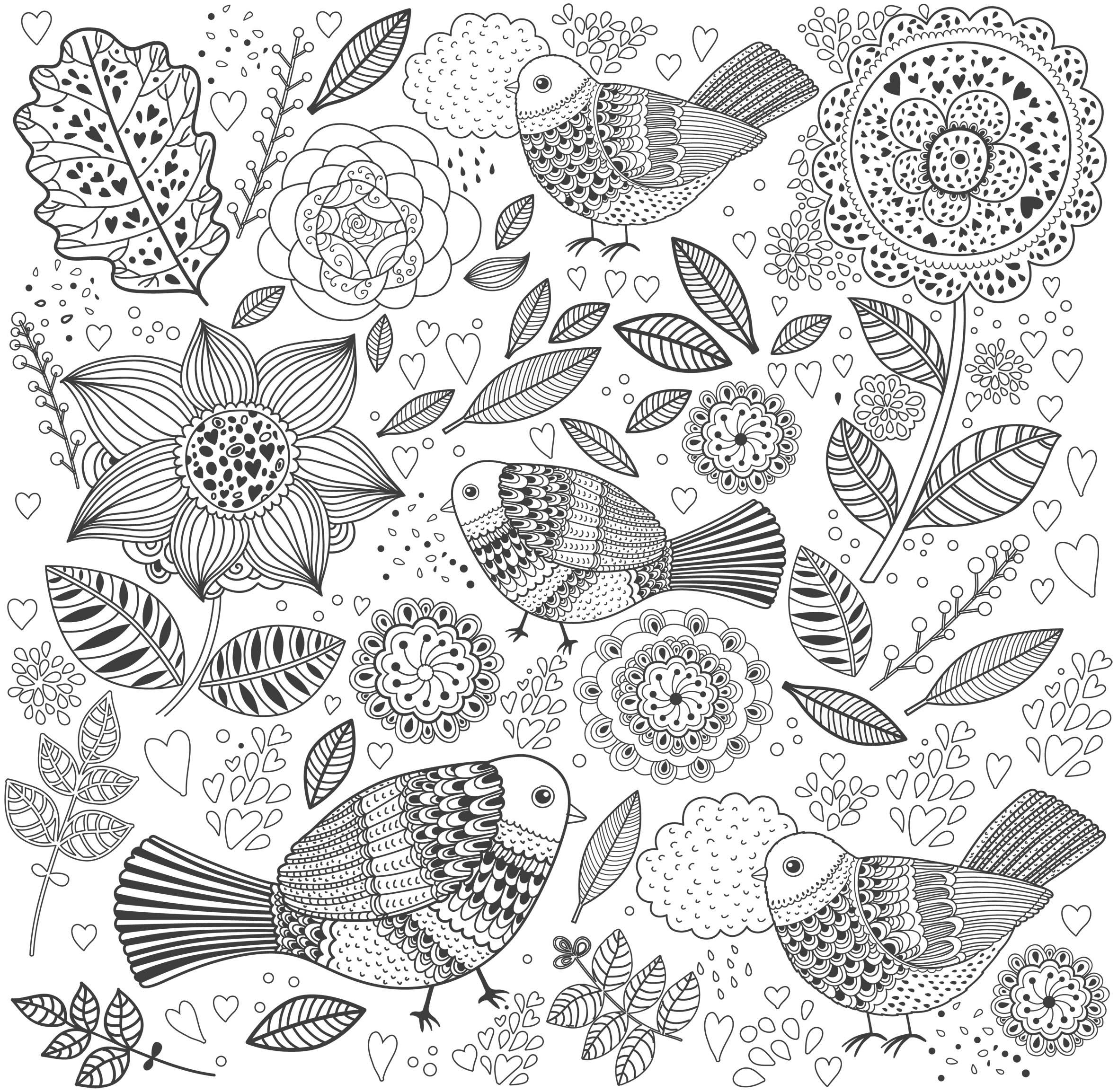 coloriage à dessiner anti stress à imprimer gratuit