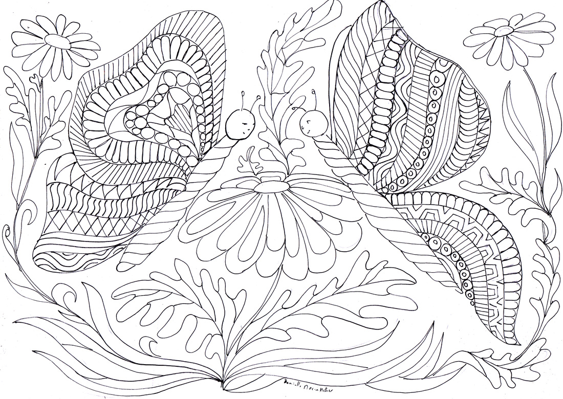 Coloriage anti stress papillon - Anti coloriage ...