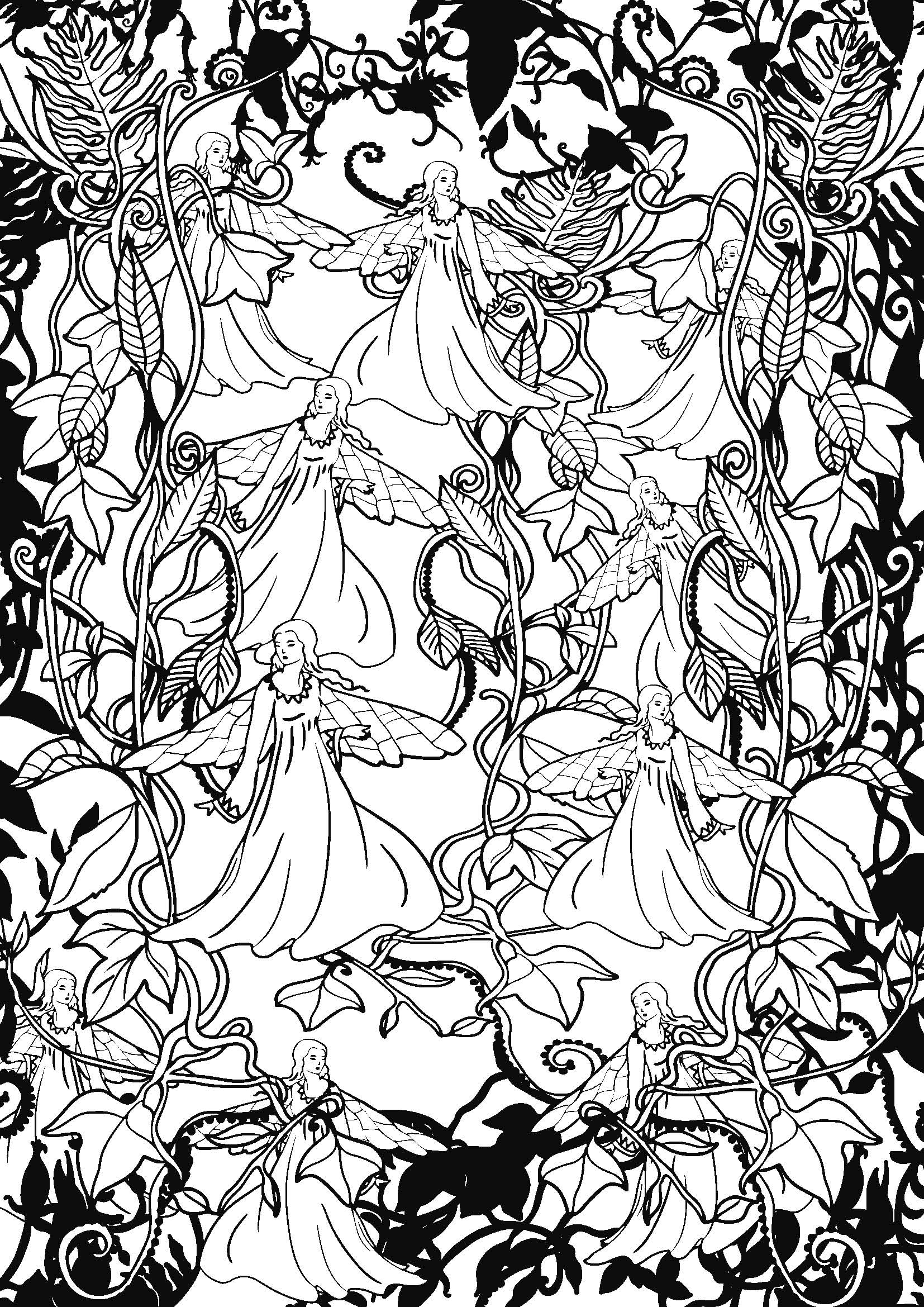 Coloriage anti stress paysage - Image anti stress ...
