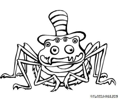 coloriage à dessiner d'araignee en ligne