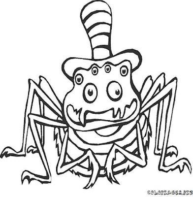 Coloriage l 39 araign e gipsy - Araignee dessin ...
