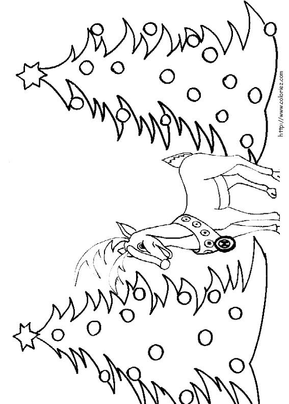 93 dessins de coloriage arbre de noel imprimer - Dessin renne de noel ...