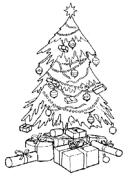93 dessins de coloriage arbre de noel imprimer. Black Bedroom Furniture Sets. Home Design Ideas