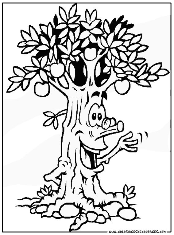 91 dessins de coloriage arbre fruitier imprimer - Arbre a colorier ...