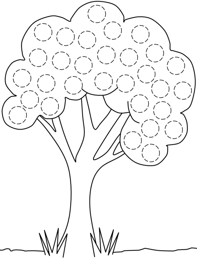 91 dessins de coloriage arbre fruitier imprimer - Coloriages arbres ...