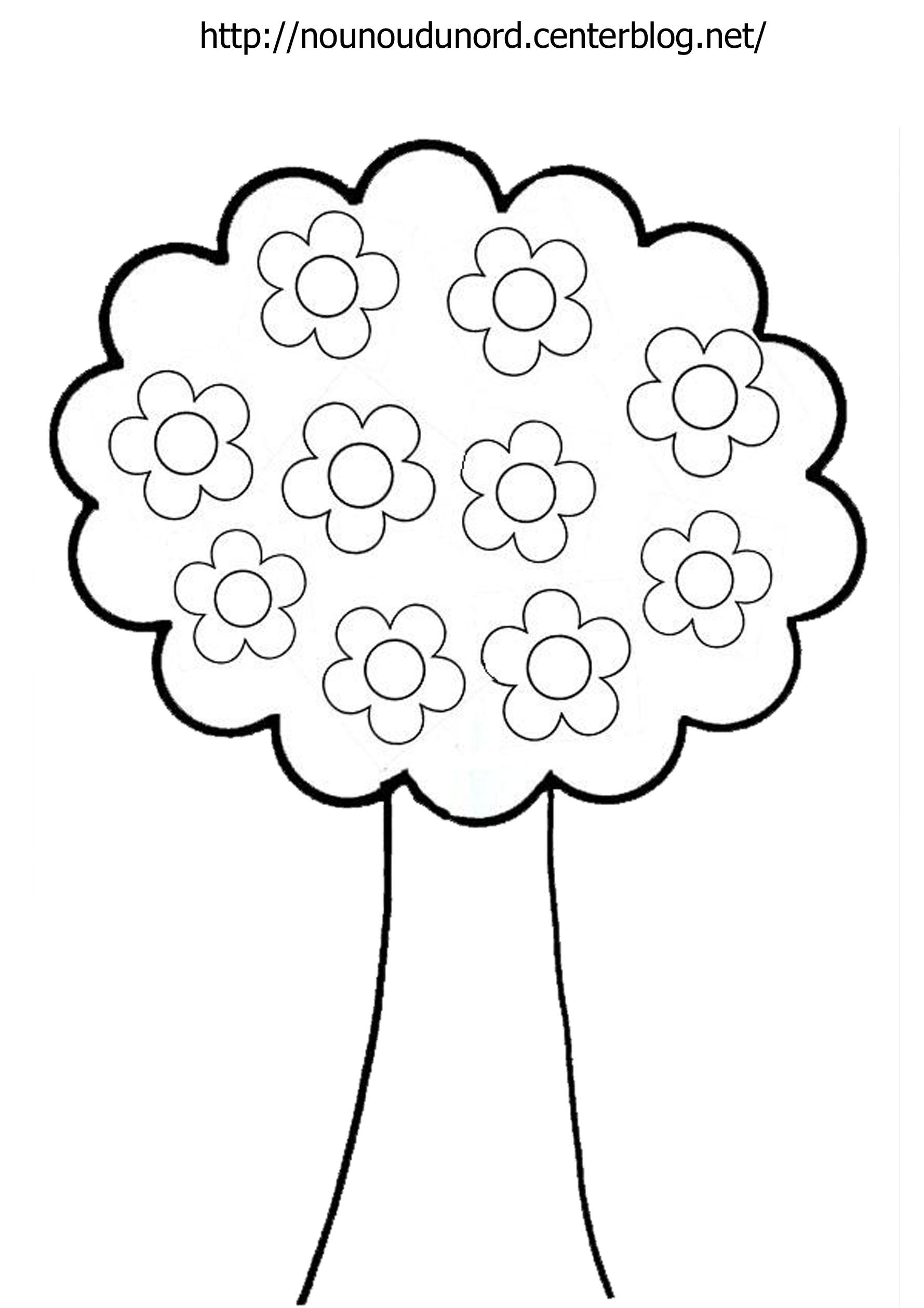 coloriage arbre vent