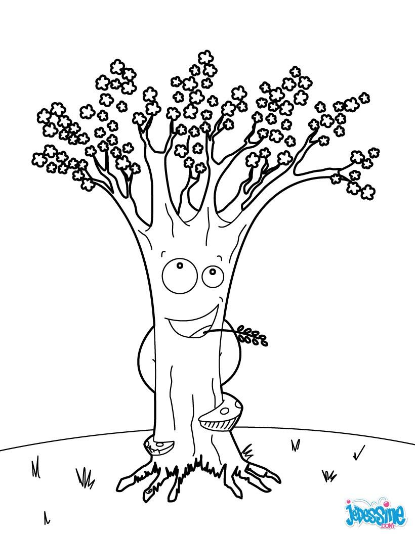 Coloriage gratuit arbre fruitier - Arbre coloriage ...