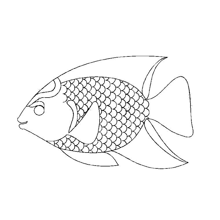 coloriage arc en ciel le poisson a imprimer