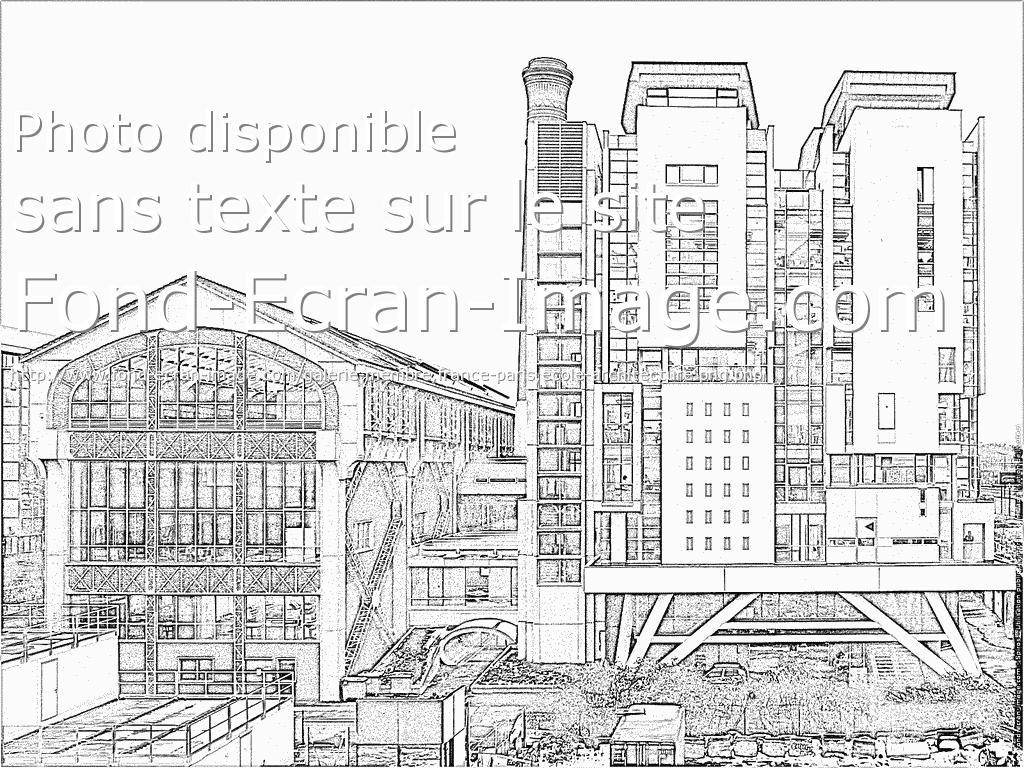 dessin à colorier architecture