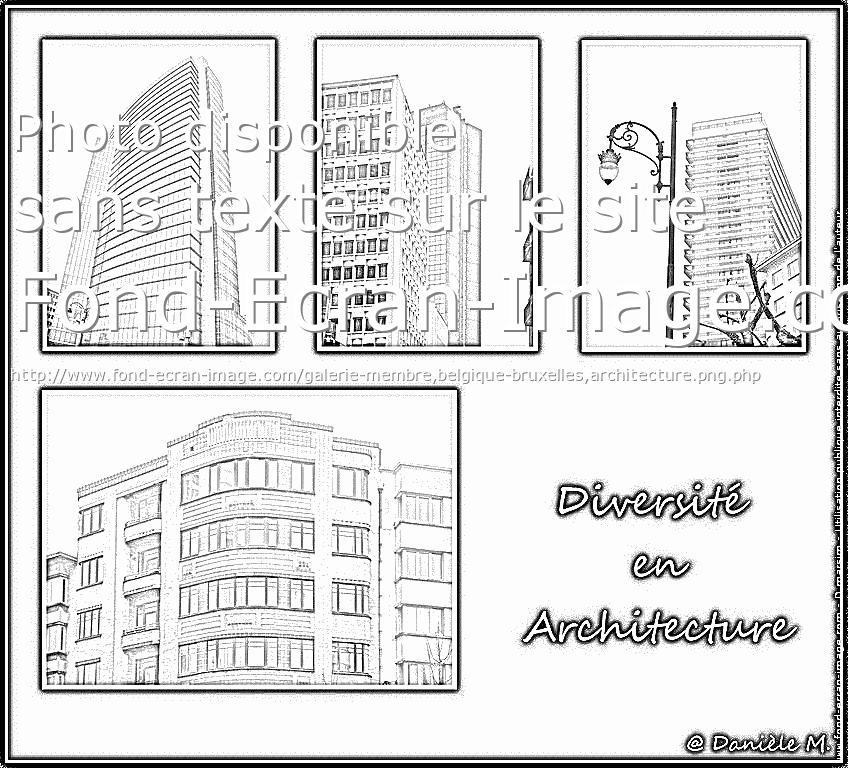 dessin à colorier de maison d'architecte