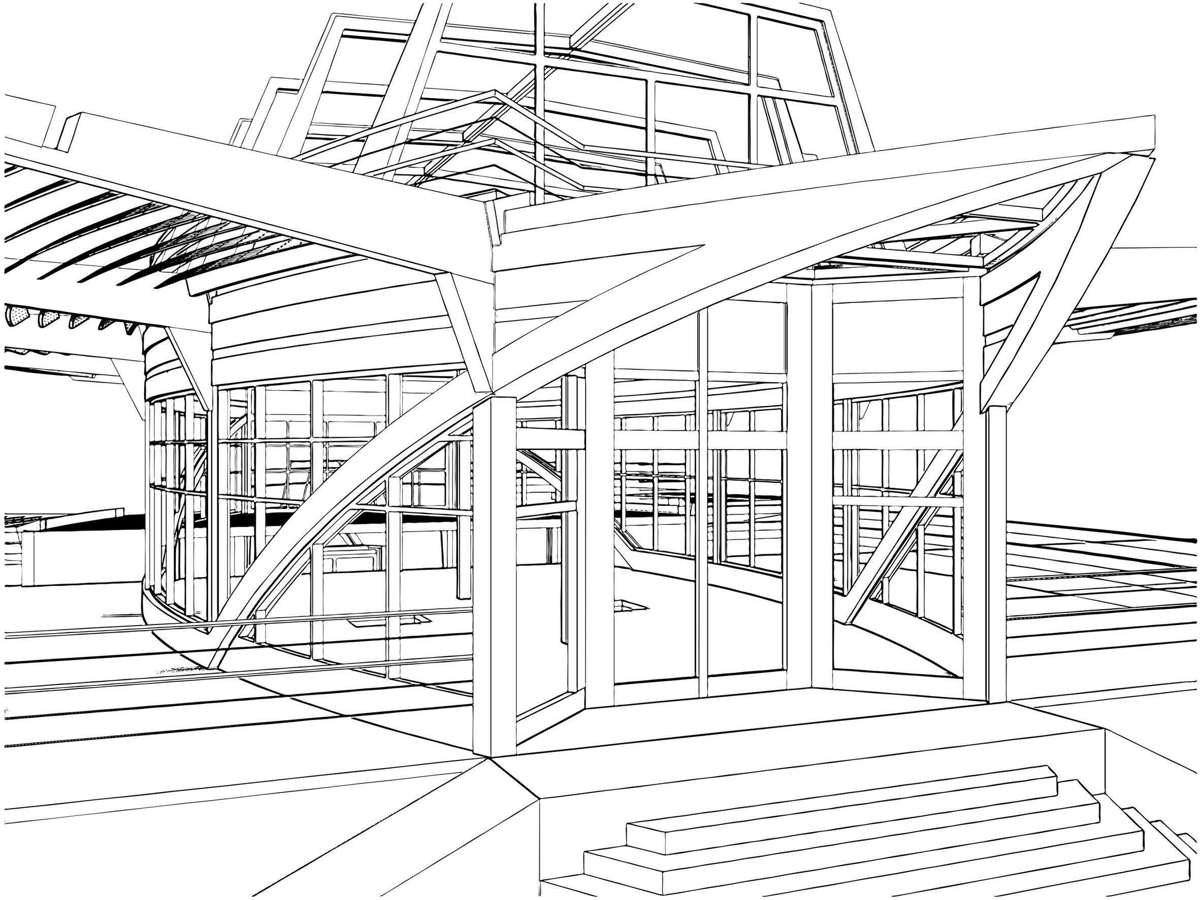 dessin d'architecte