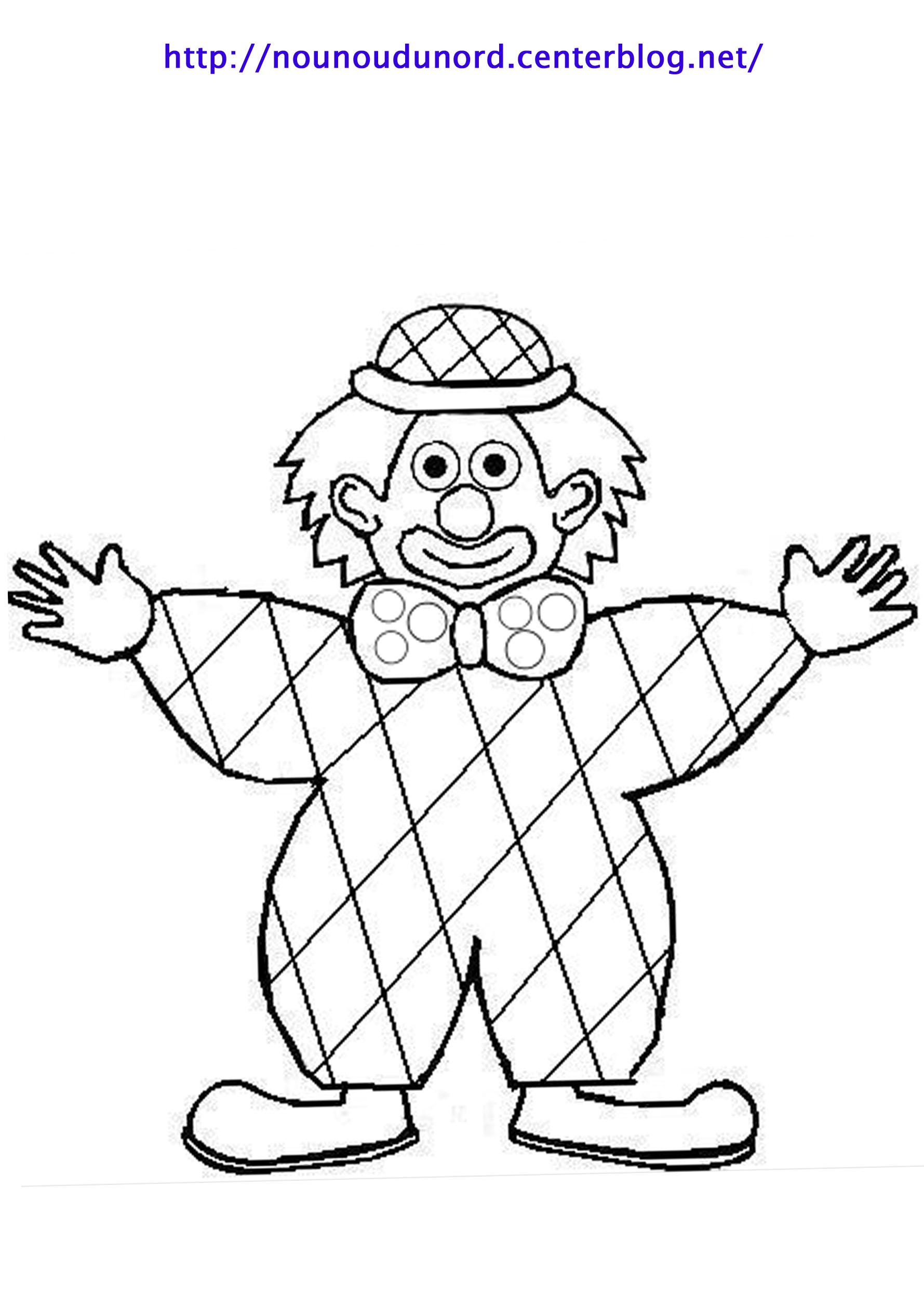 coloriage à dessiner arlequin cezanne