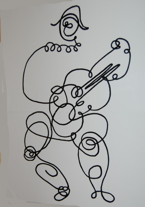 dessin arlequin a colorier